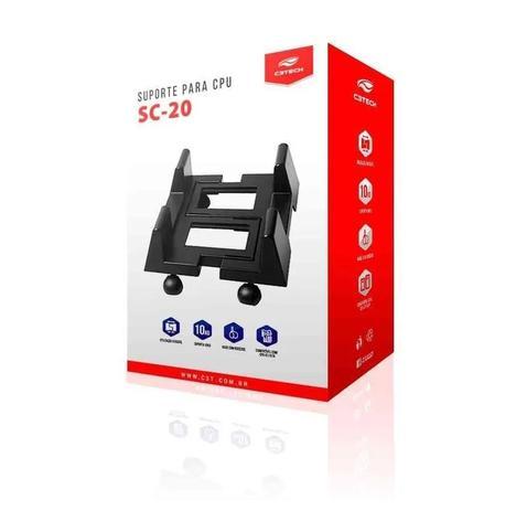 SUPORTE P/CPU SC-20BK C3TECH-Garantia: 90 dias