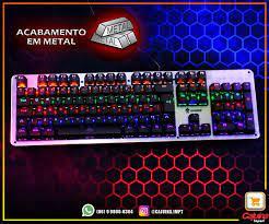 TECLADO GAMER MECANICO EG208 BLACKSMITH (BLUE SWITCH) COM FIO EVOLUT