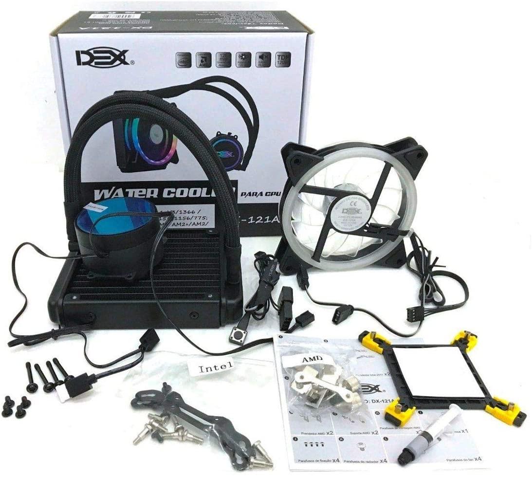 WATER COOLER 120mm RGB Para Processador Intel E Amd Gamer DX-121A Dex