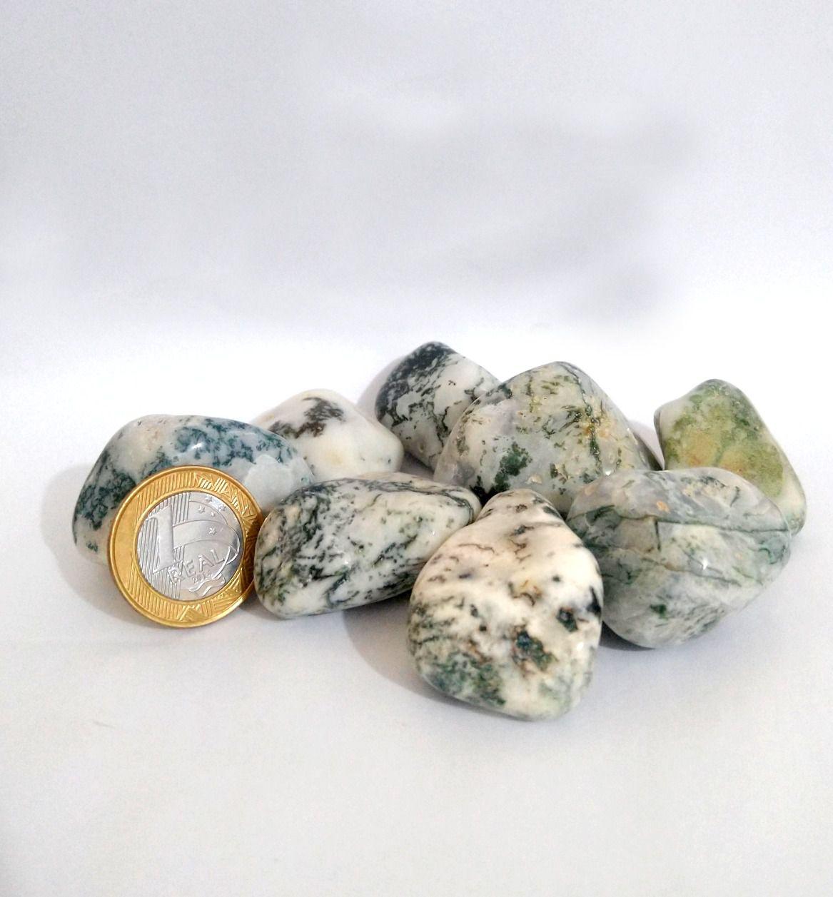 Ágata Musgo - Rolado - 3 a 4 cm