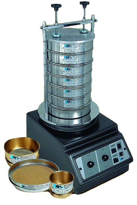 Agitador Eletromagnético para Peneiras Redondas