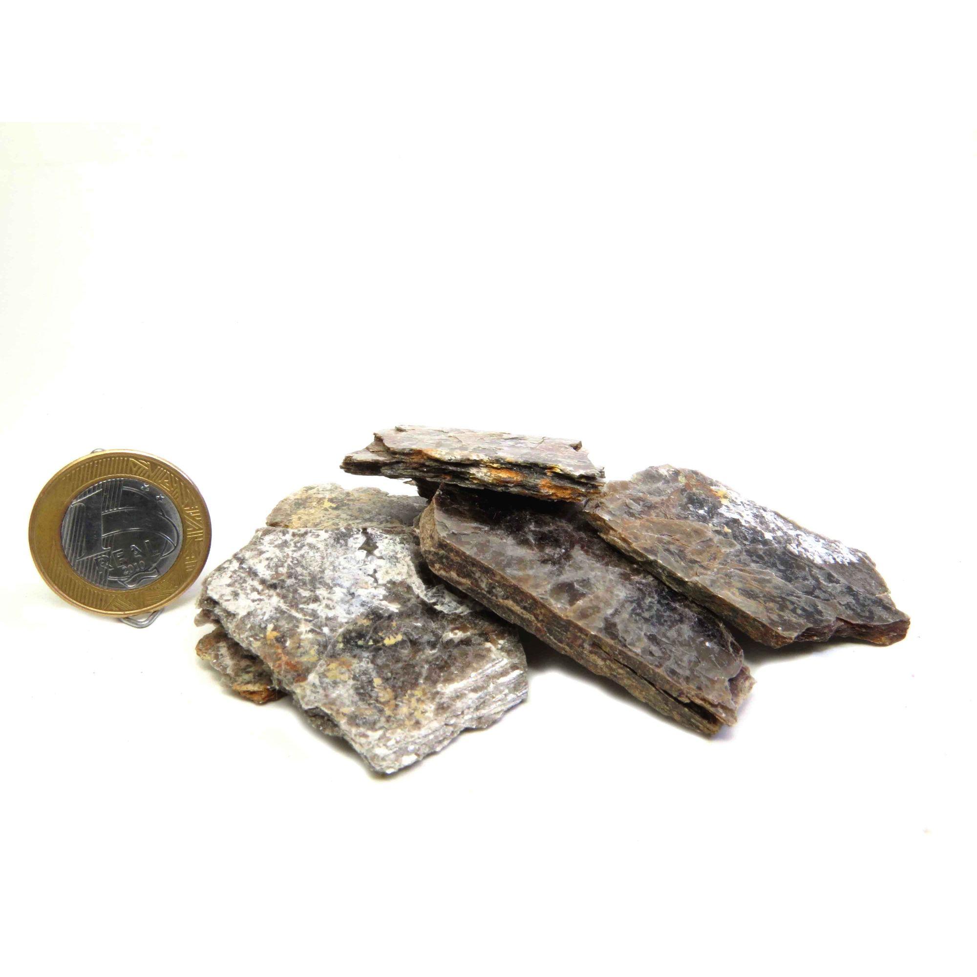 Biotita - Amostra Pequena - Bruto | Pacote com 20 Unidades - 2 a 3 cm