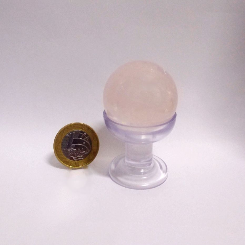 Bola de Quartzo Rosa - Polido - 4 cm