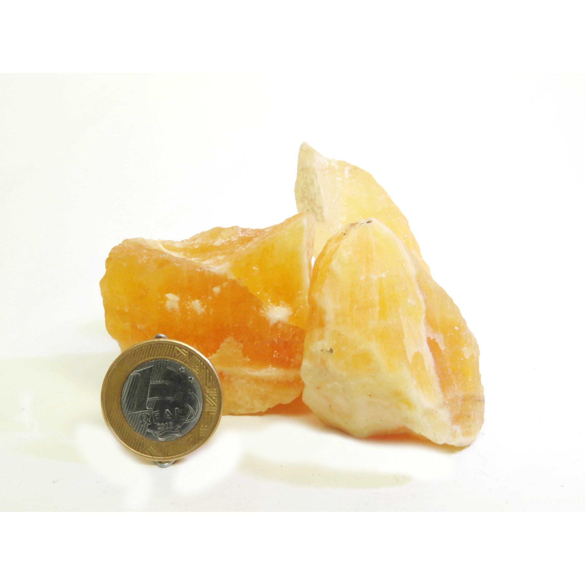 Calcita Amarela - Bruto - 4 a 5 cm