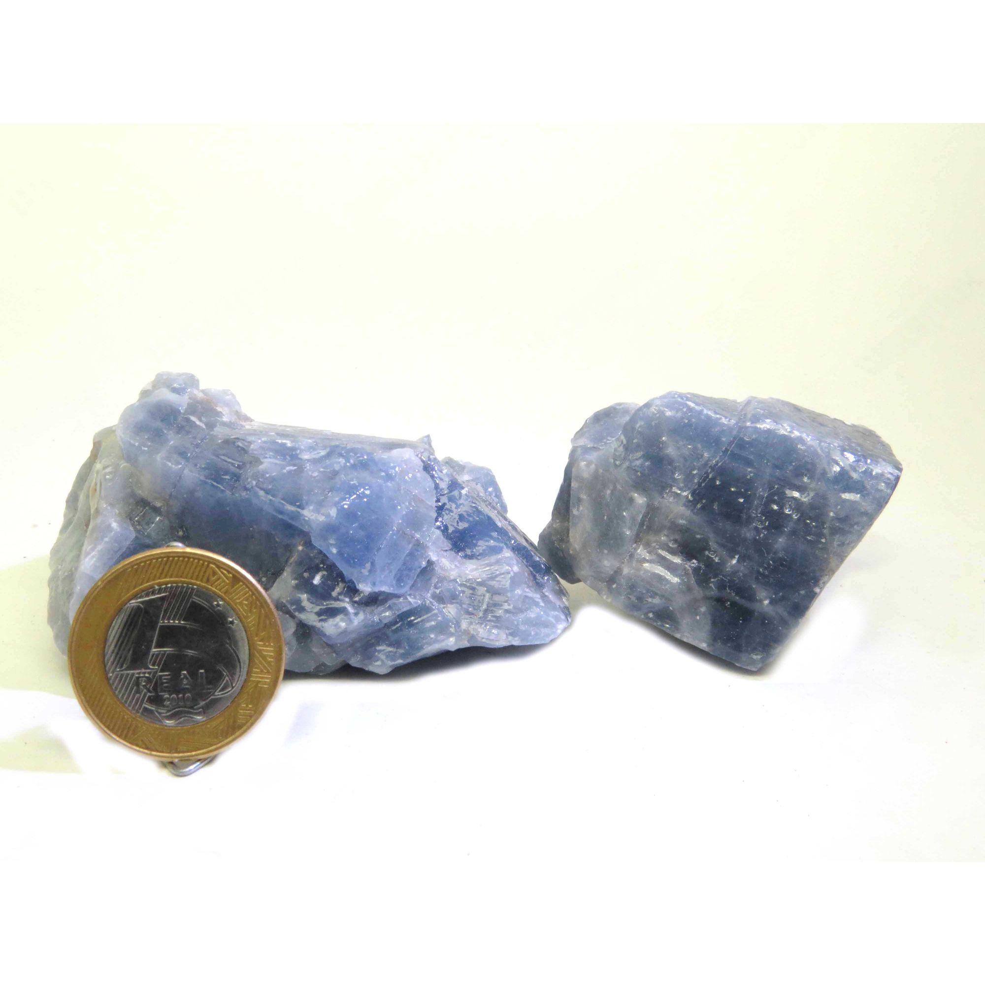 Calcita Azul - Bruto - 5 a 6 cm