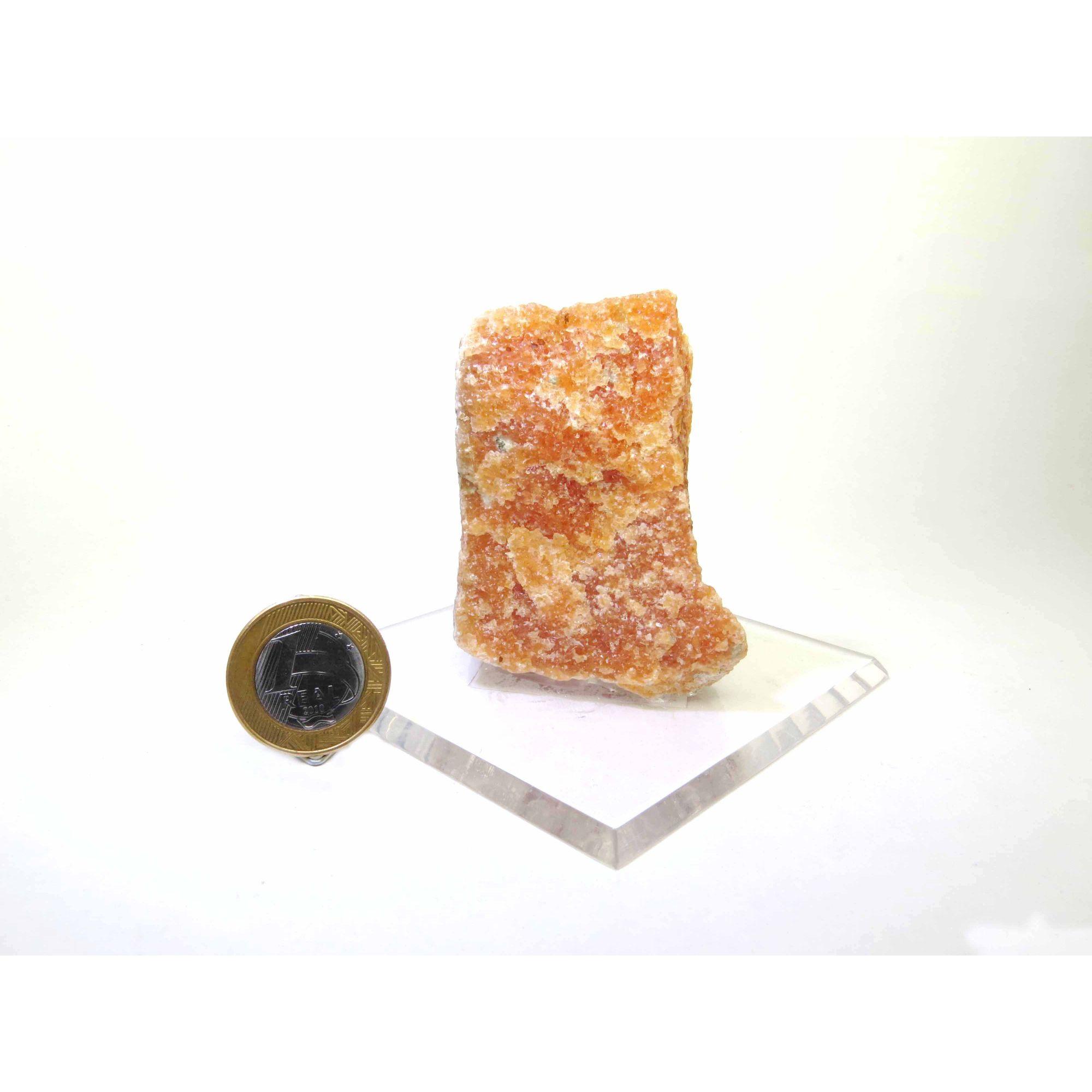 Calcita Laranja na Base - 5,5 a 7 cm