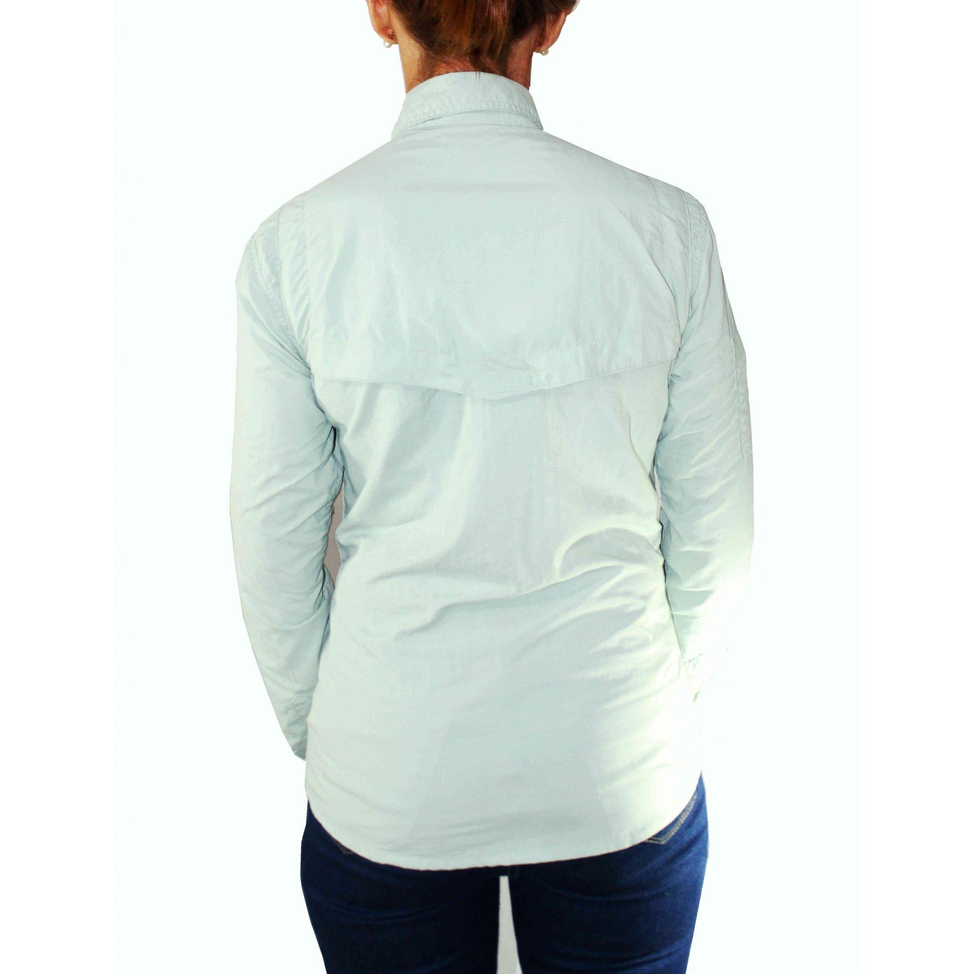 Camisa Hard Safári Feminina   Gelo