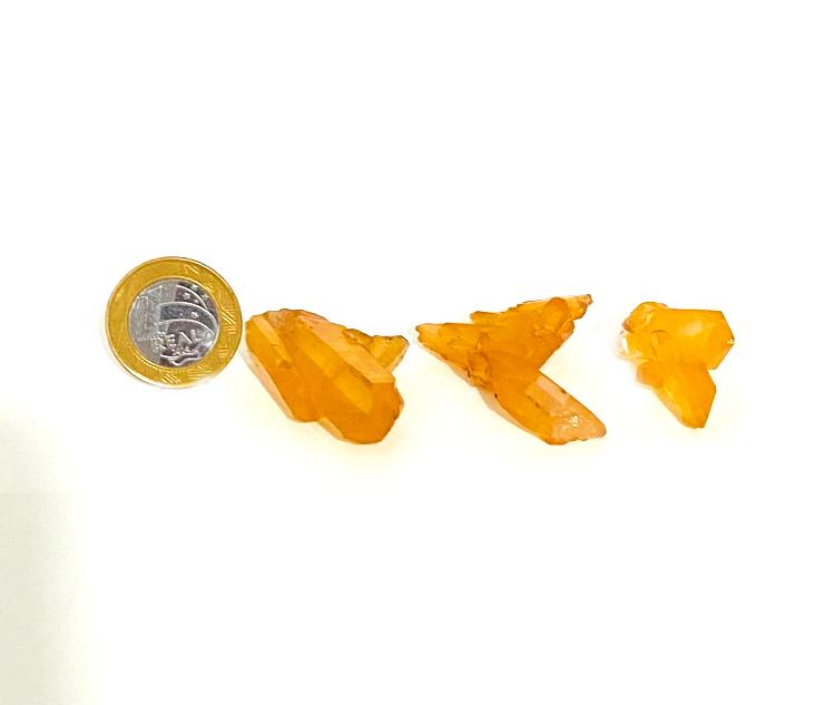 Drusa de Quartzo Tangerina | 3 a 4,5 cm | 0,010 a 0,020kg