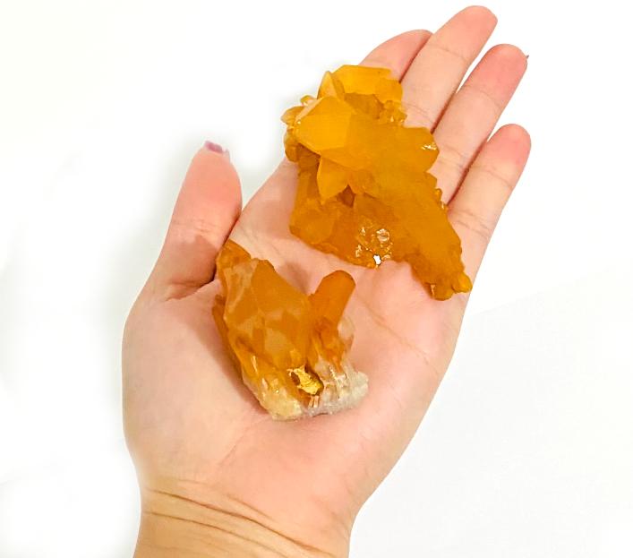 Drusa de Quartzo Tangerina   5 a 7 cm   0,025 Kg