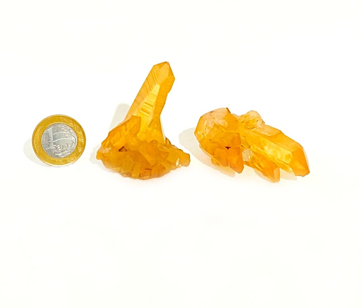 Drusa de Quartzo Tangerina   5 a 7 cm   0,050 Kg