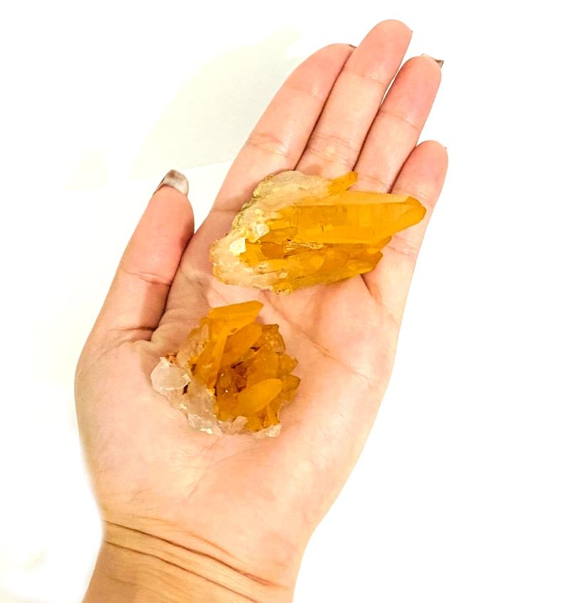 Drusa de Quartzo Tangerina   5 cm   0,040Kg