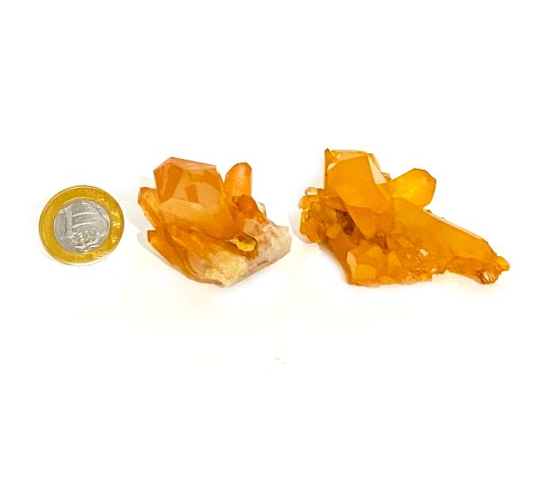 Drusa de Quartzo Tangerina | 6 a 7 cm | 0,070 Kg