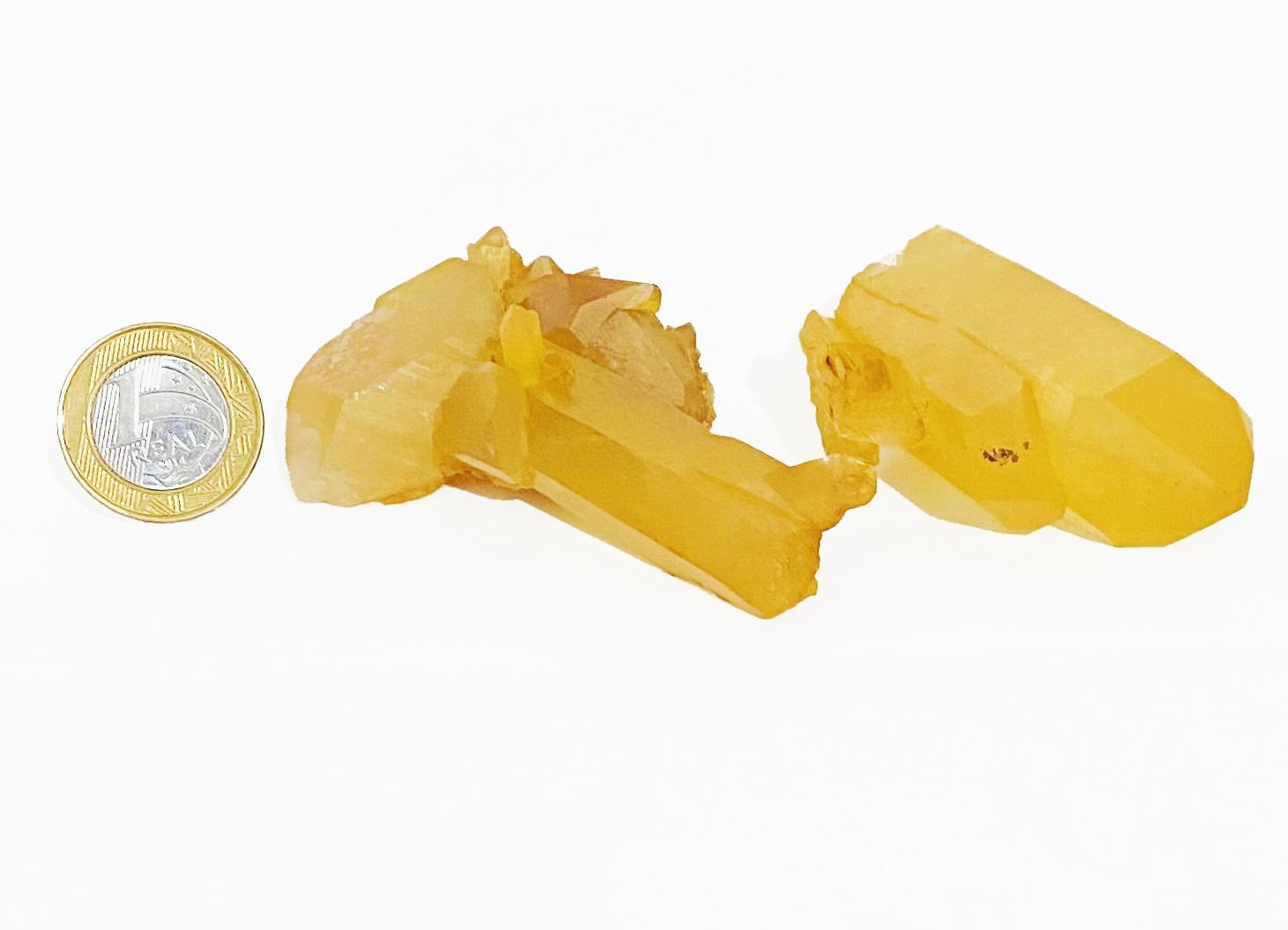 Drusa de Quartzo Tangerina | 7,5 a 9 cm | 0,070 Kg