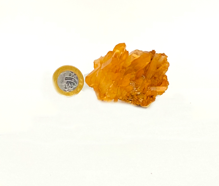 Drusa de Quartzo Tangerina   7 cm   0,110Kg
