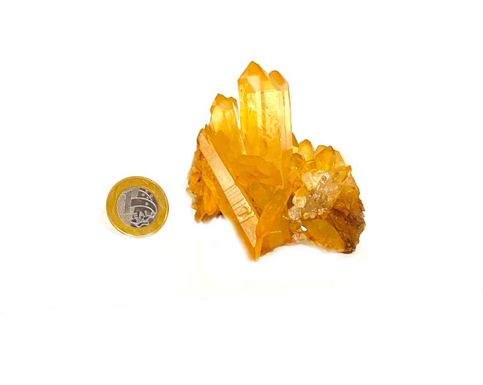 Drusa de Quartzo Tangerina   8 cm   0,235Kg