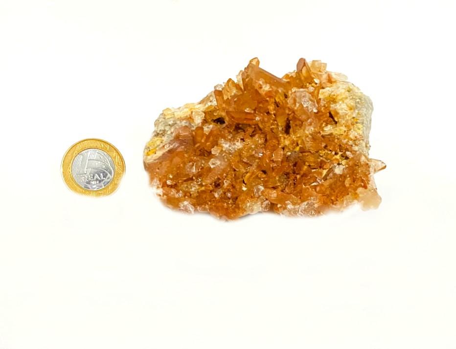 Drusa de Quartzo Vermelho   9 cm   0,380 Kg