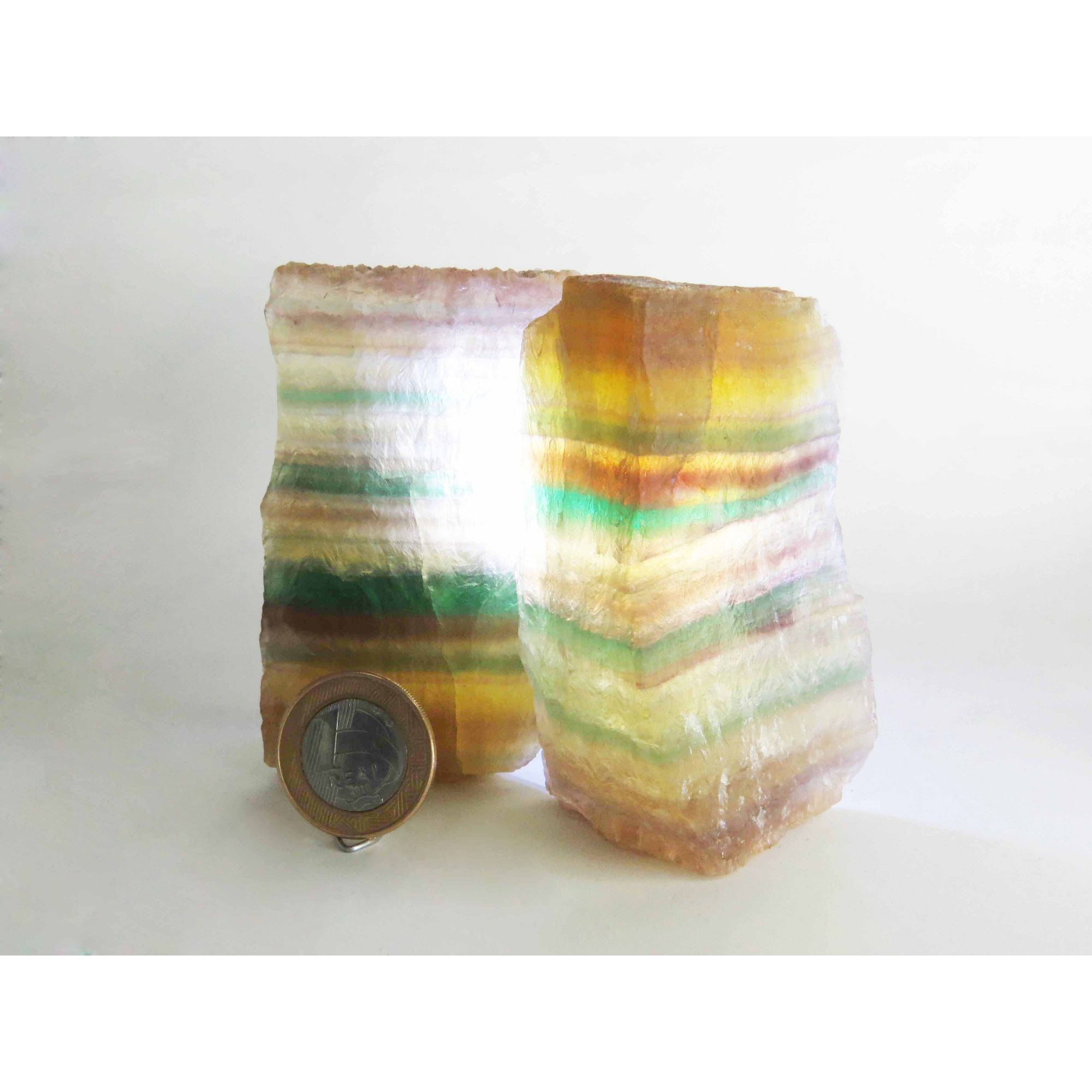 Fluorita Arco-Íris - Bruto - 2,5 a 4 cm