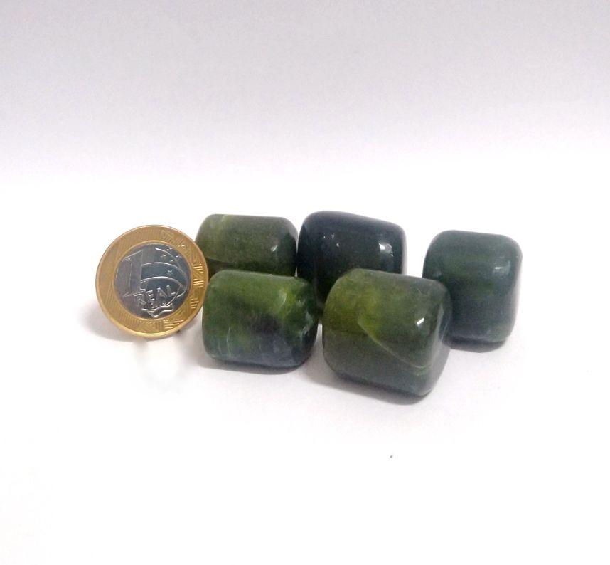 Jade da Groenlândia - Rolado - 2 a 3 cm