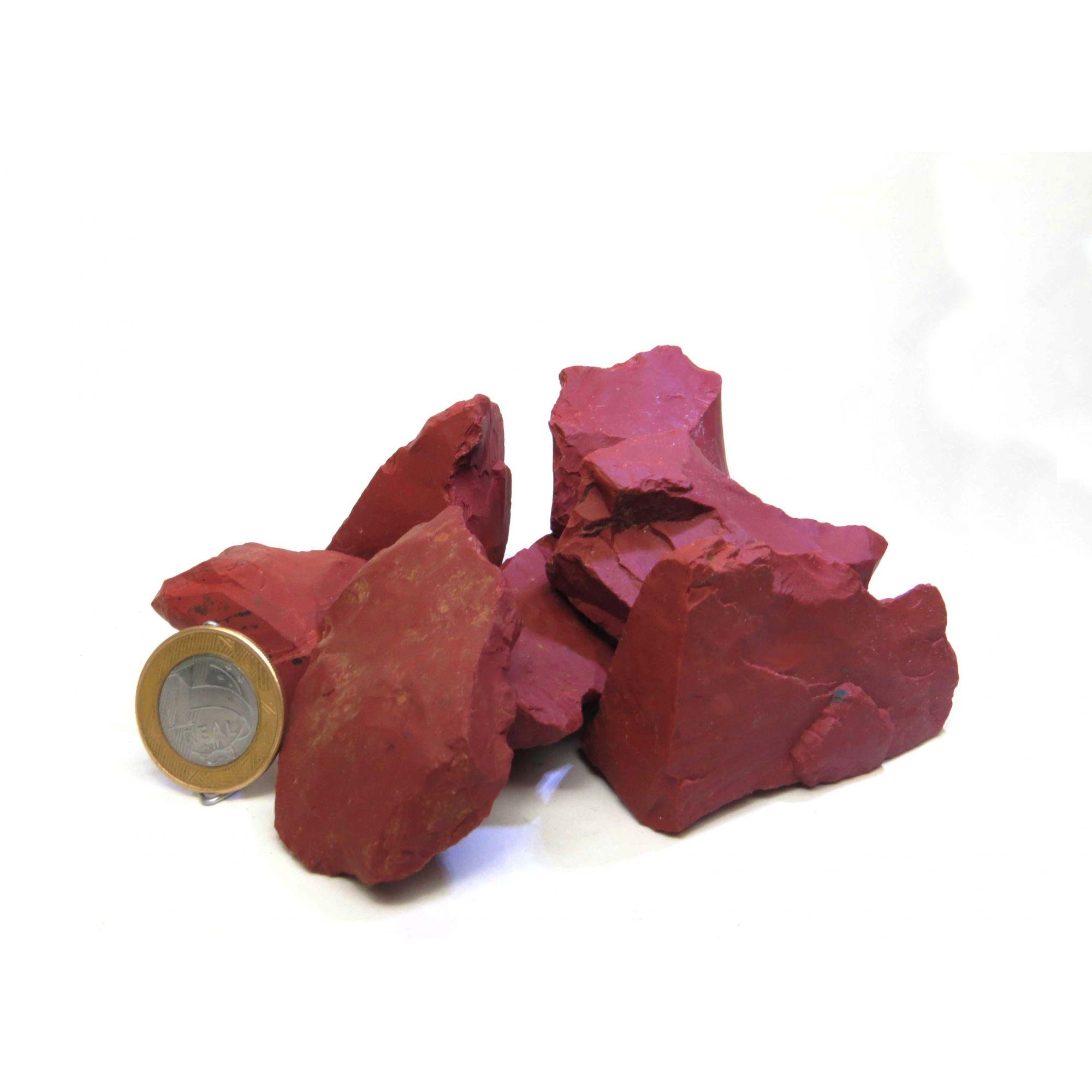 Jaspe Vermelha - Bruto | Pacote com 5 Unidades
