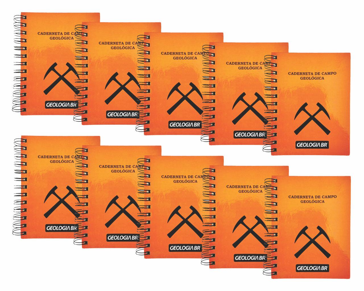 Kit com 10 Unidades - Caderneta de Campo   Geologia BR
