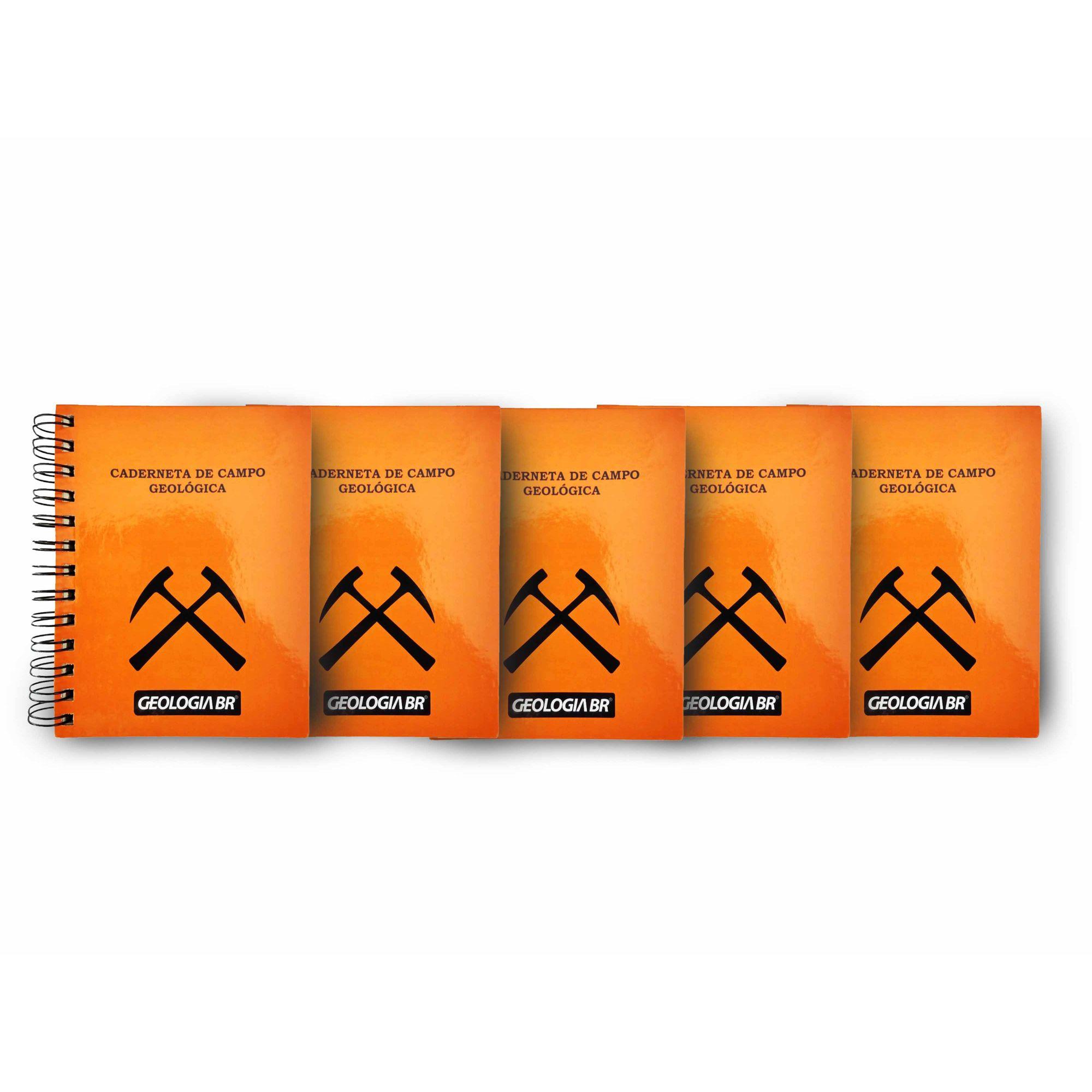 Kit com 5 Unidades - Caderneta de Campo - Geologia BR