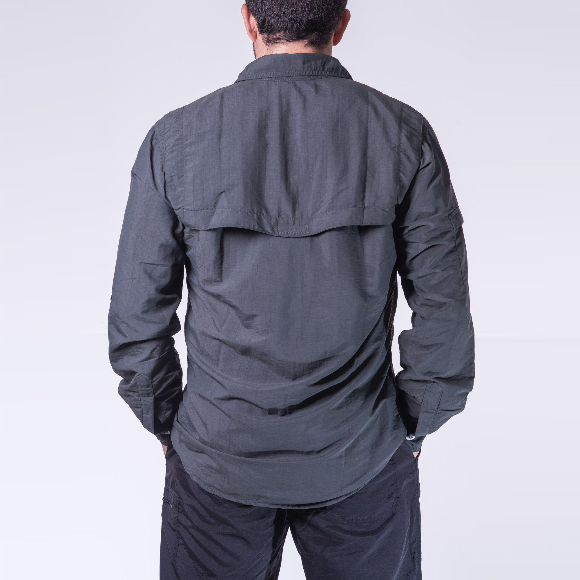 Lançamento - Camisa Safári Masculina Chumbo | Hard Adventure