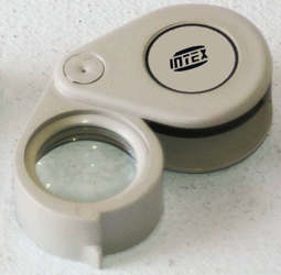 Lupa de Bolso Intex 15x - Plástico (ABS)