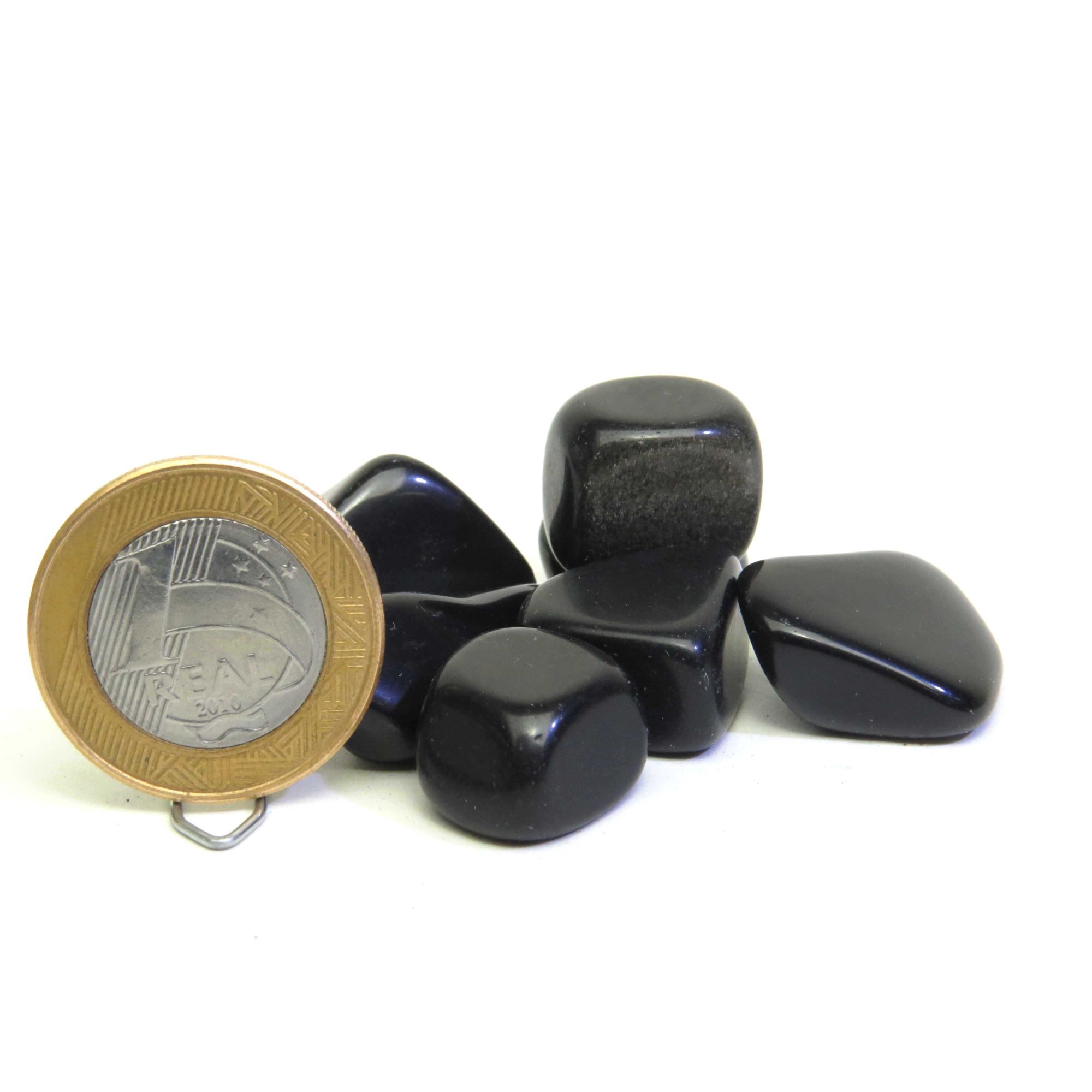 Obsidiana - Rolado | R30 - 3 a 4 cm