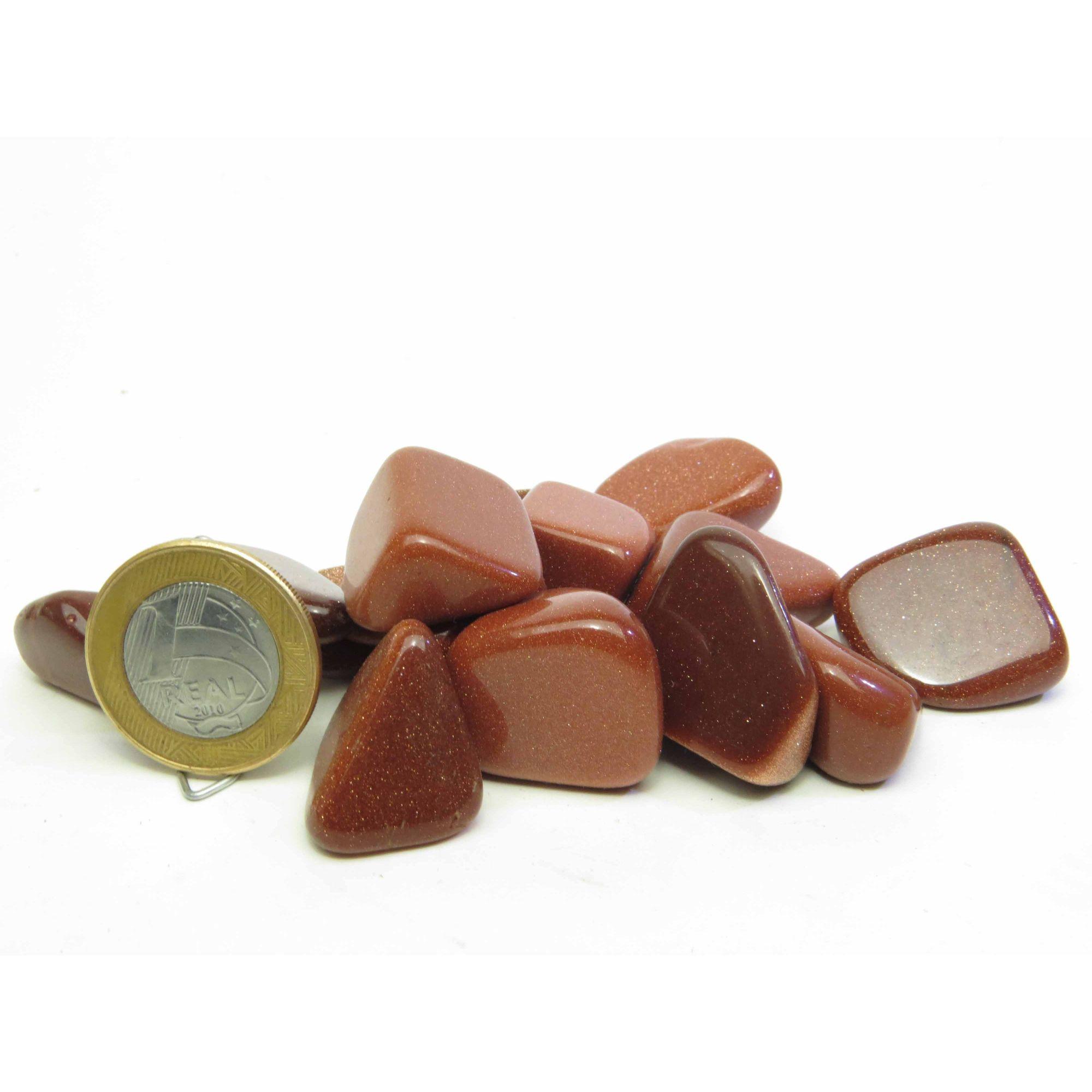 Pedra do Sol Rolada Sintética - Amostra Pequena | AP7 - 2 a 3 cm