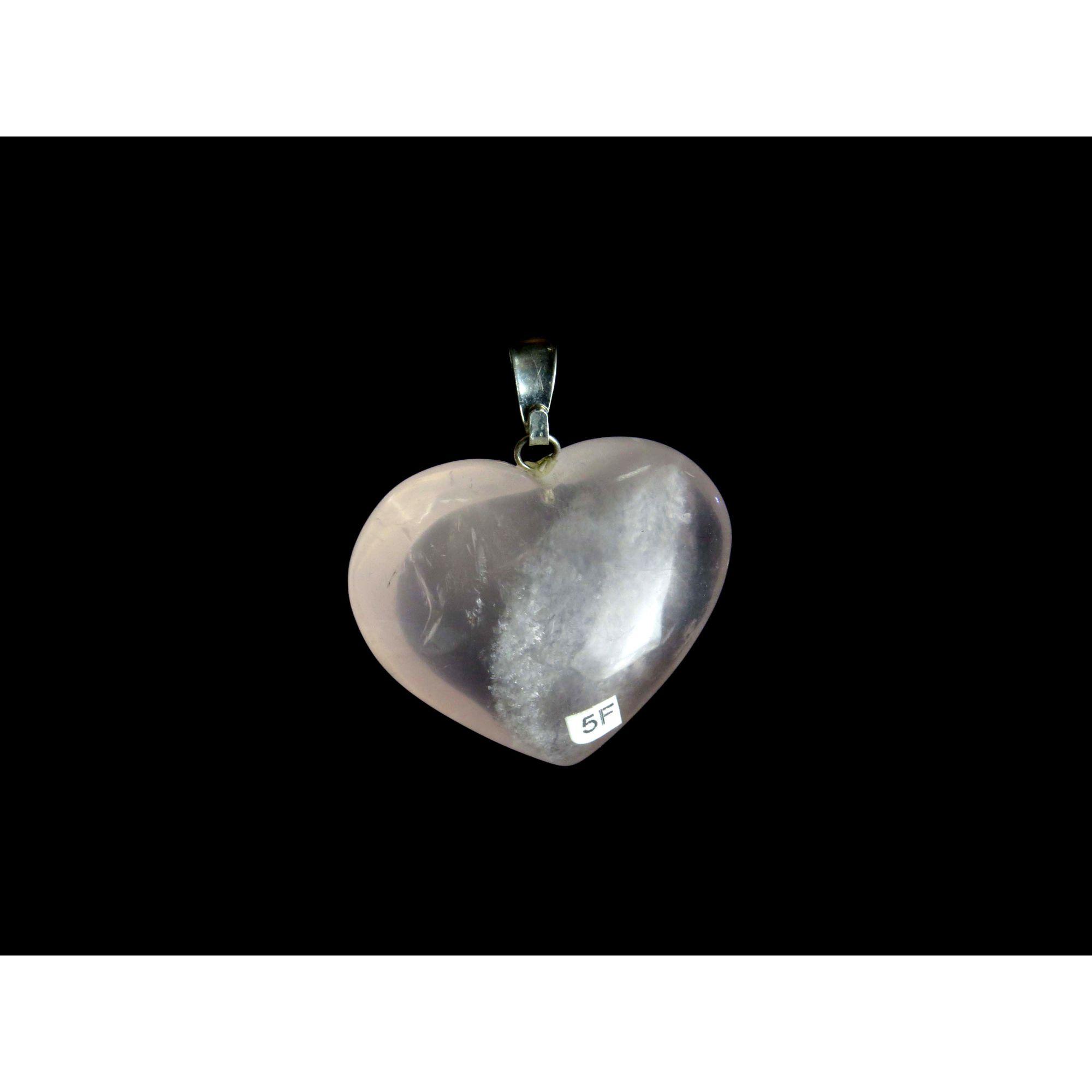 Pingente Coração - Quartzo Rosa | 5F