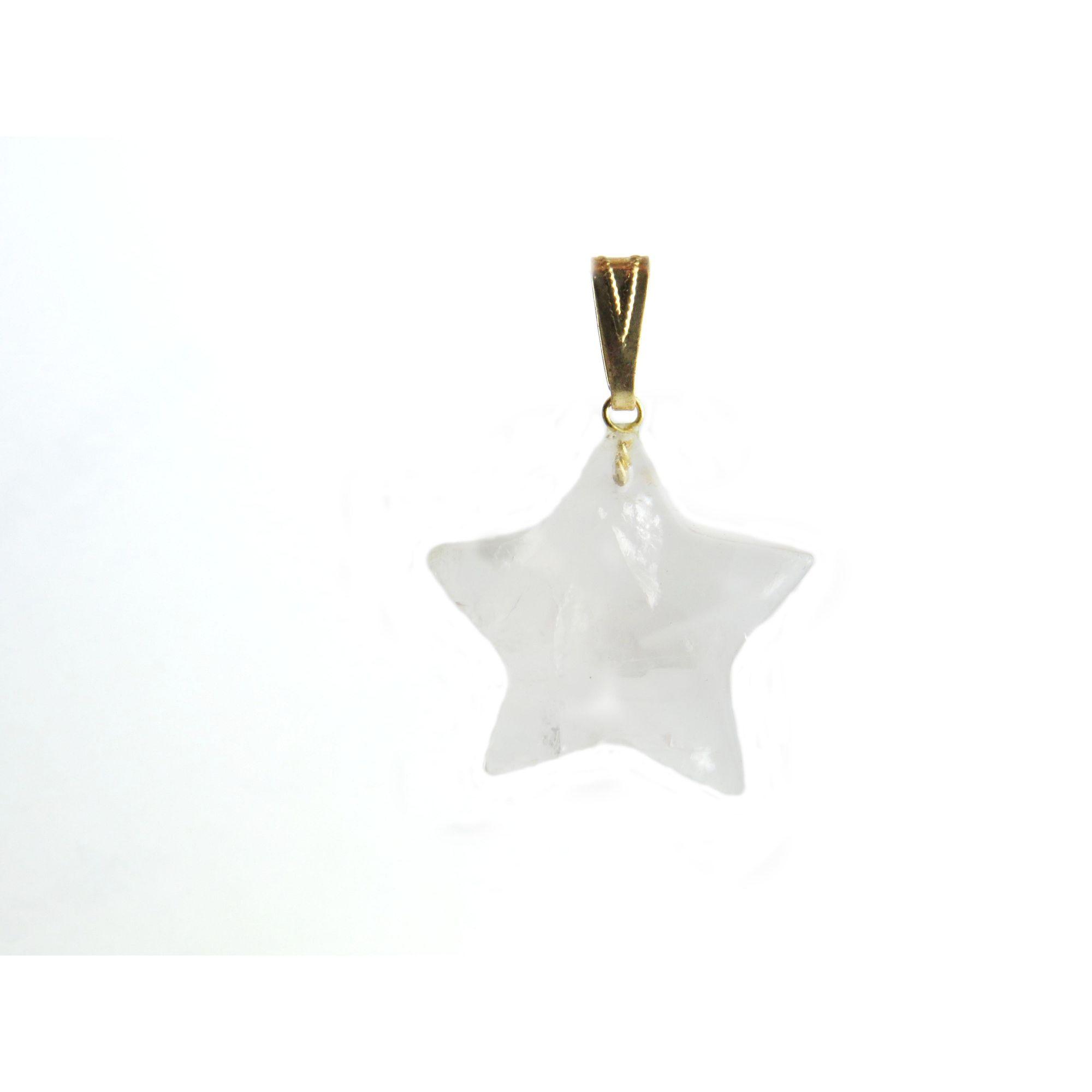 Pingente Estrela - Quartzo Rosa | 4F