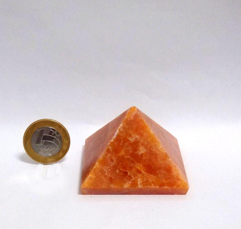Pirâmide - Calcita Laranja | 14P - 4 a 5 cm