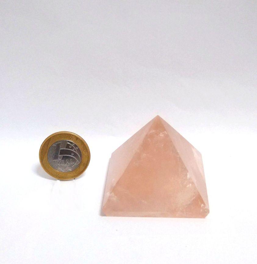 Pirâmide - Quartzo Rosa | 15P - 4 a 5 cm