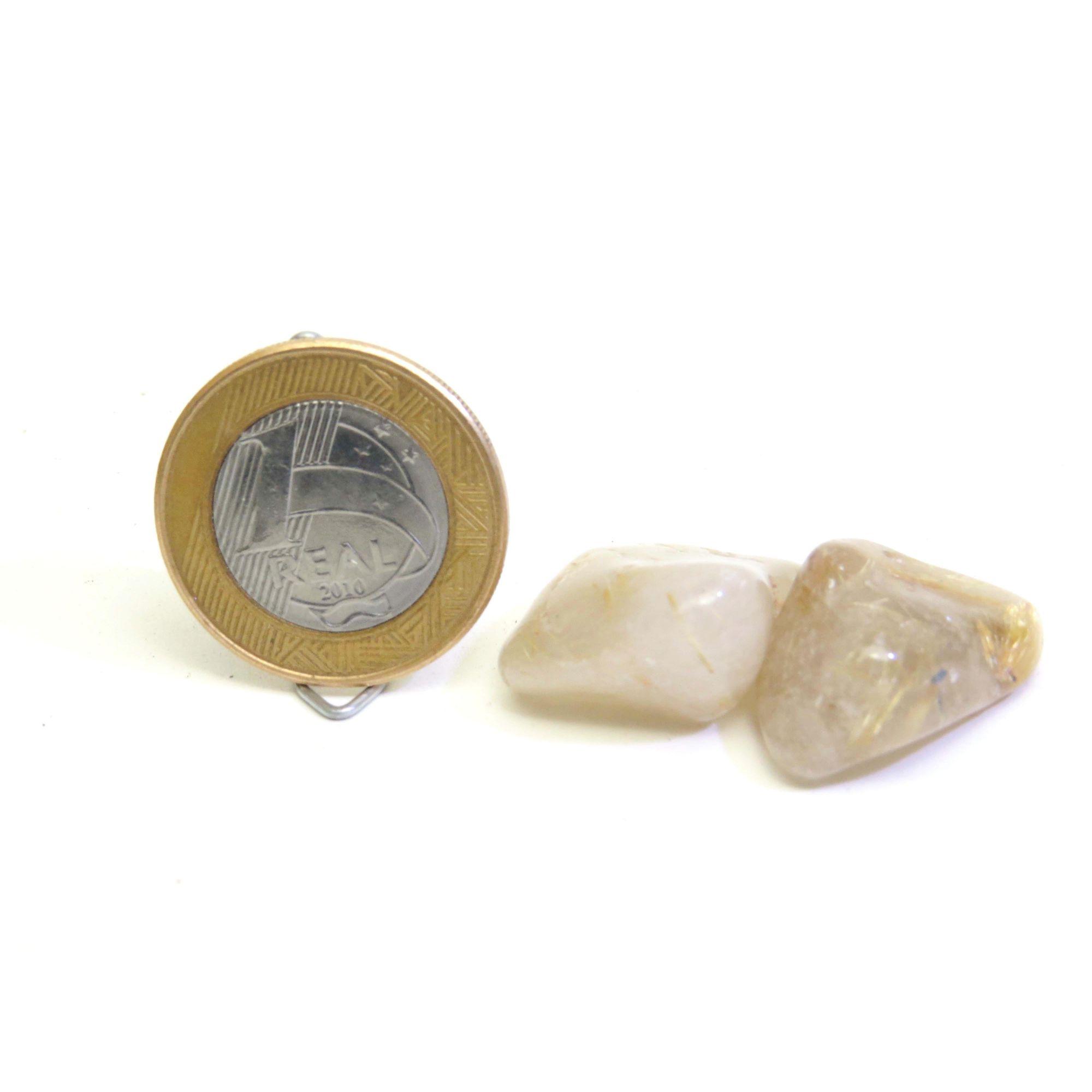 Quartzo Rutilado - Rolado - 1 a 2 cm