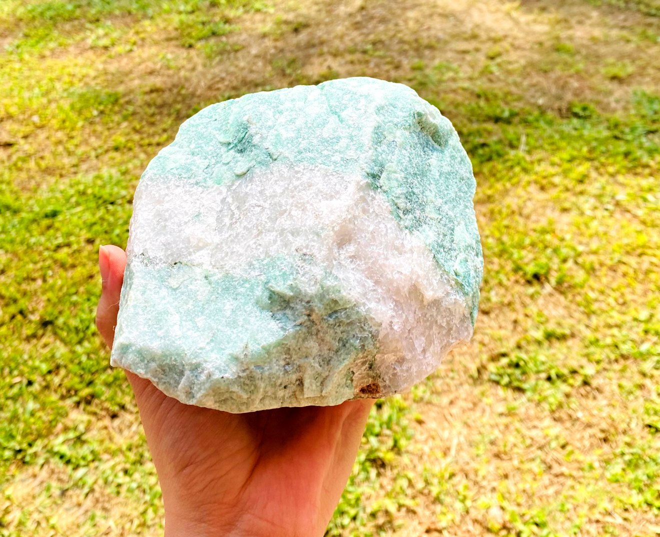 Quartzo Verde com Cristal Bruto  | 18 cm | 2,270 Kg