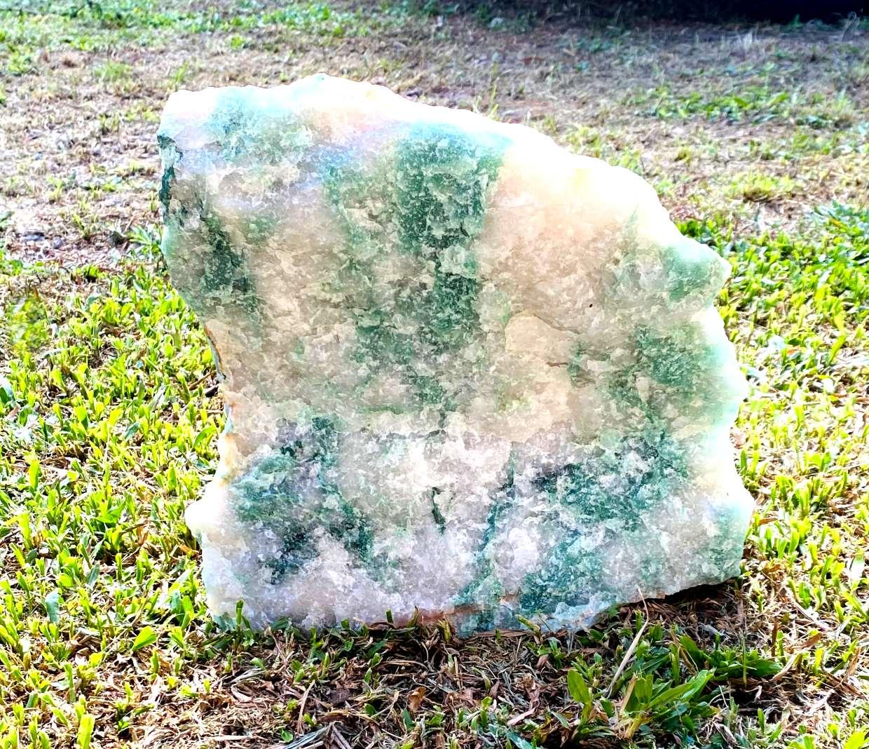 Quartzo Verde com Cristal Bruto  | 30 cm | 10,410Kg