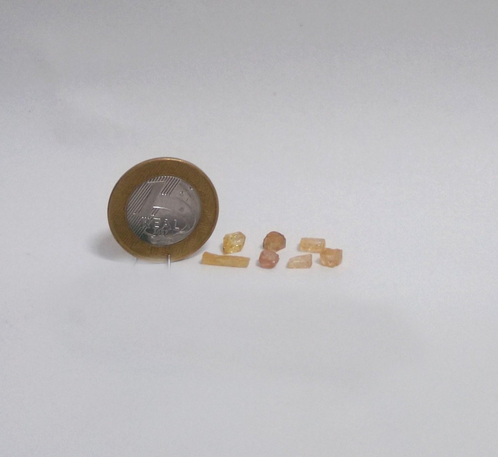 Topázio Imperial - Amarelo Escuro e Caramelo - 0,3 a 1 cm