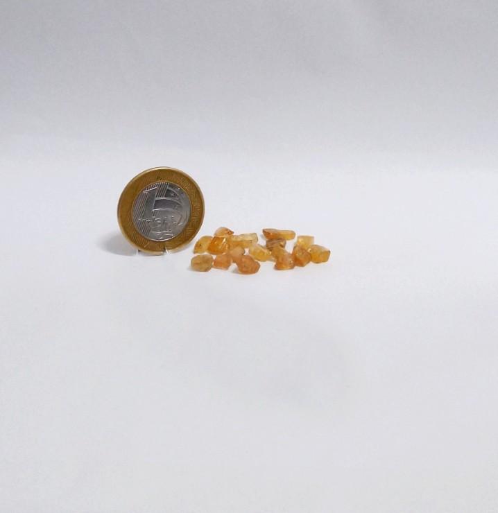 Topázio Imperial - Amarelo Escuro e Caramelo - Bruto - 0,5 a 1 cm