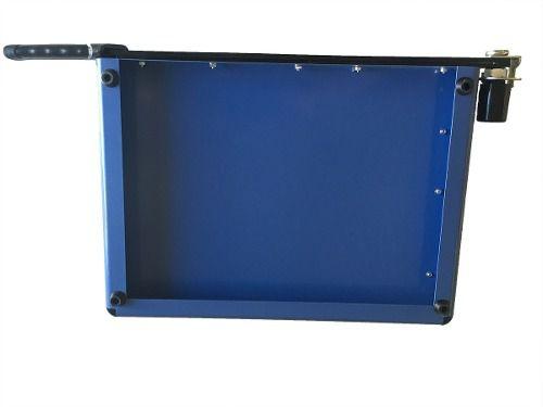 Guilhotina Ofício B4 Com Margeador Magnético Azul 12 Folhas