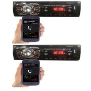 Auto Radio - 2peças- Bluetooth Mp3 Player Usb Sd Som Carro