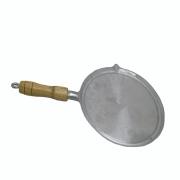 Bifeteira De Alumínio Fundido Lisa Redonda - 26 Cm De Diâmetro