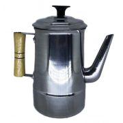 Bule para coar café de Alumínio polido 1,3 litros
