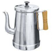 Bule para coar café de Alumínio polido 1 litro