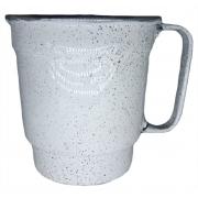 Caneca Alumínio Branco Chopp Com Alça n°10 500 Ml