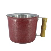 Caneca Leiteira Fervedor Canecão Alumínio Vermelho 19 cm Diâmetro  3 Litro