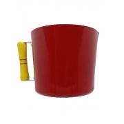 Caneca Leiteira Fervedor Canecão Alumínio Vermelho 13,5 cm Diâmetro 1 Litro