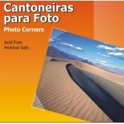 Cantoneiras Adesivas Transparente para fotos 10mm 156 Unid