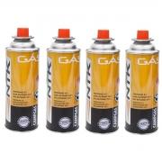 Cartucho de gás NTK Campgás para fogareiros e maçaricos embalagem com 4 unidades