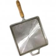 Chapa Bifeteira De Alumínio Lisa Quadrada 24X24