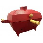 Churrasqueira A Bafo Quadrada Em Alumínio Vermelho